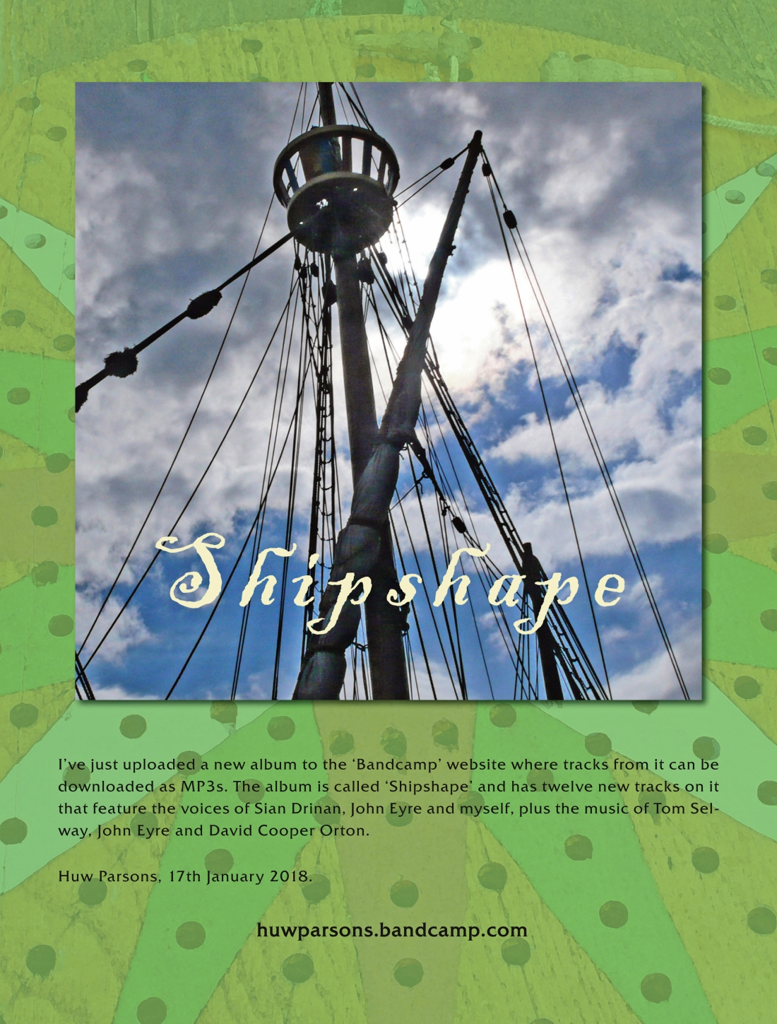 SHIPSHAPE - Bandcamp Advert copy
