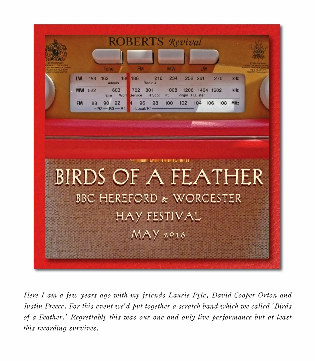 BIRDS OF A FEATHER - HAY FESTIVAL - PODCAST TITLE PAGE