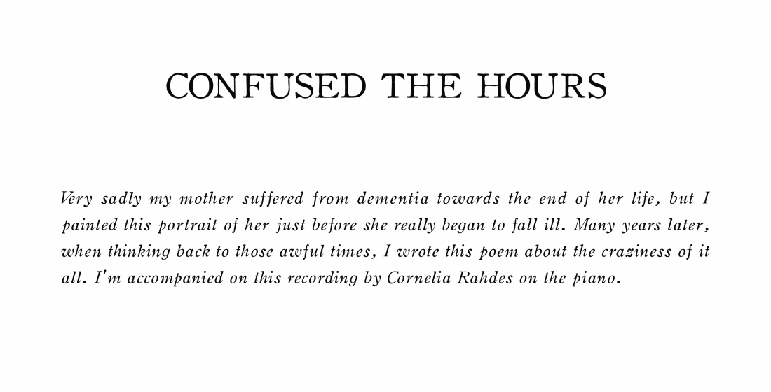 CONFUSED THE HOURS - TITLE PAGE TWO
